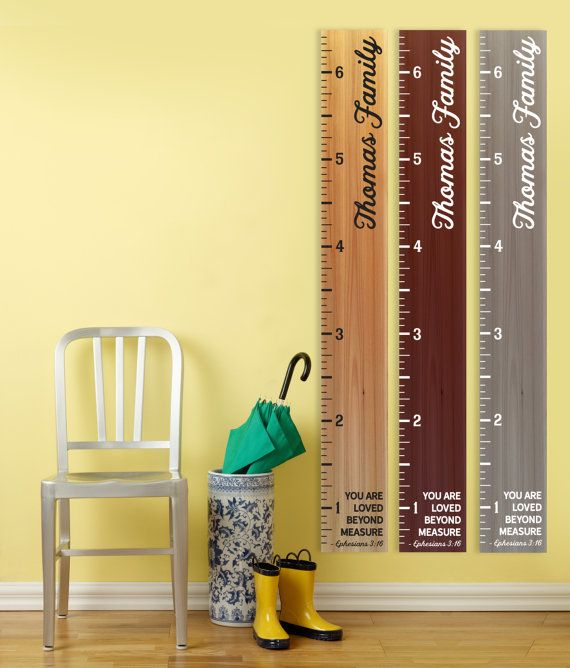 Wooden Growth Chart Ruler Kid S Child By Rustichustle