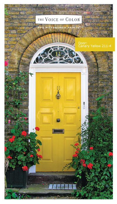 Door Paint Canary Yellow 211-4. From PPG The Voice of Color® & Door Paint: Canary Yellow 211-4. From PPG The Voice of Color ...