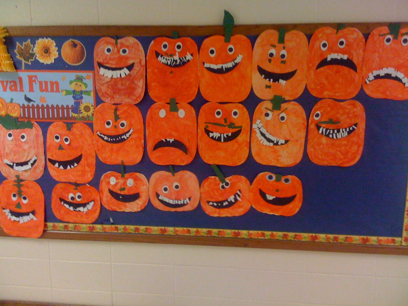 Goofy Jack O Lantern Art Project