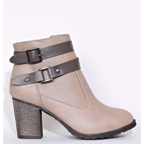 16fd31731289 Dollhouse Alicia Faux Leather Ankle Boots ( 35) ❤ liked on Polyvore  featuring shoes