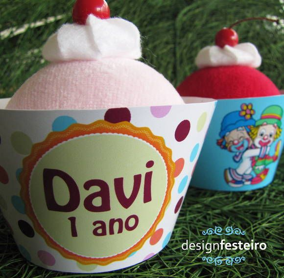 Porta cupcakes da festa Patati Patatá Personalizada | Design Festeiro