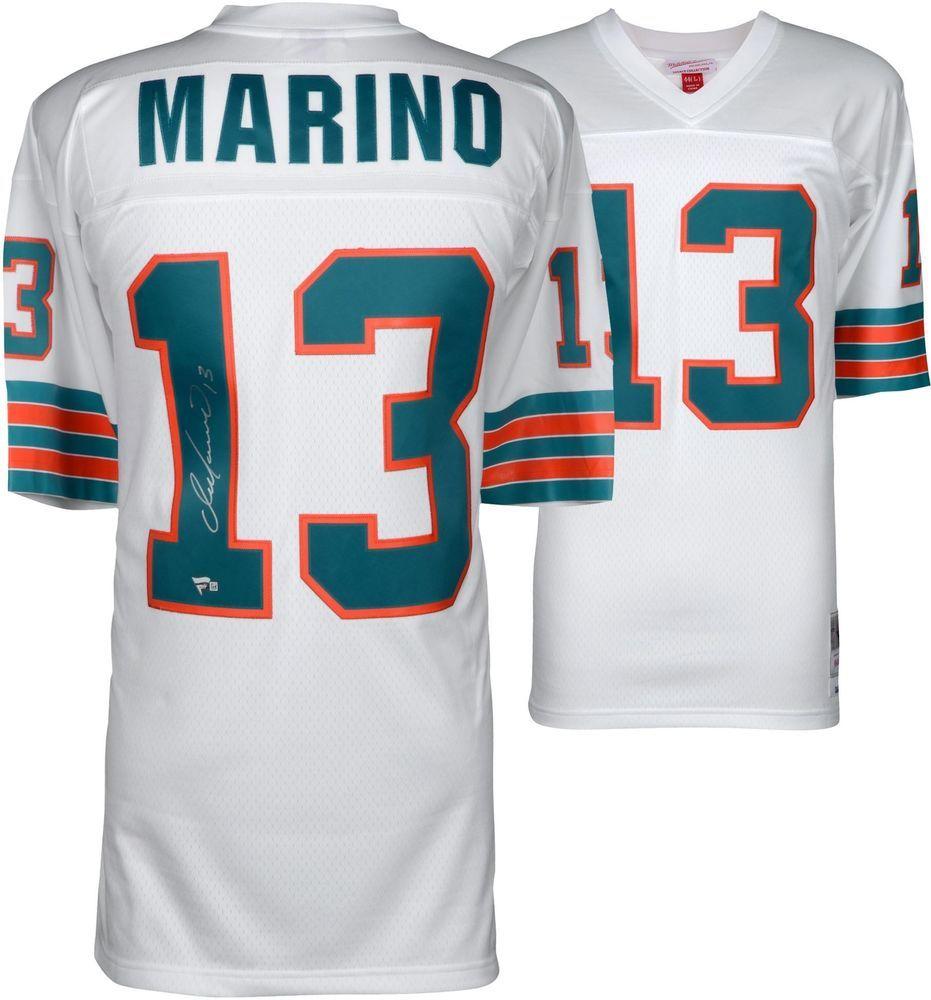 f87c808a6 Dan Marino Miami Dolphins Autographed White Replica Mitchell   Ness Jersey   sportsmemorabilia  autograph  football