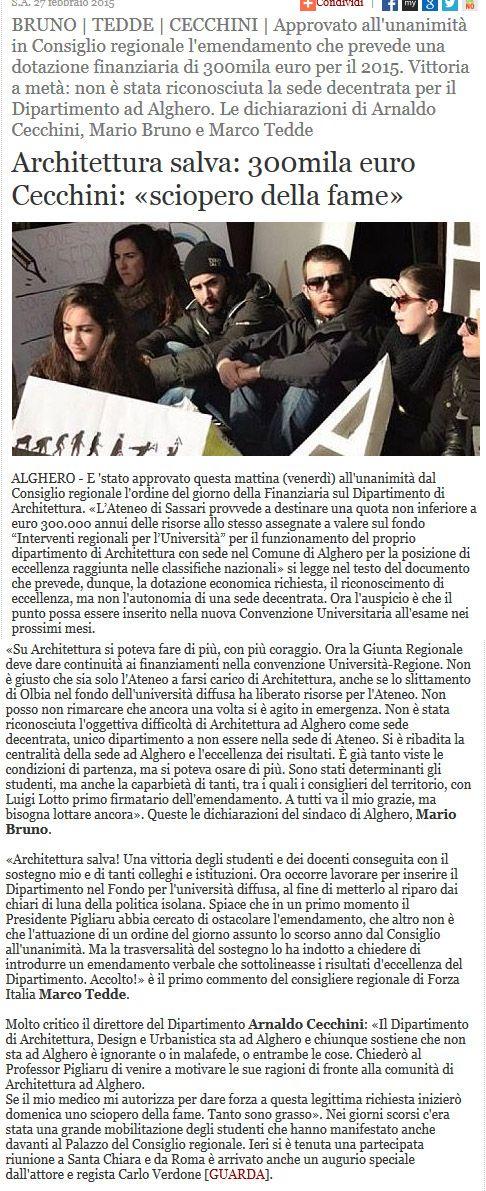 Alguer.it, 27 febbraio 2015. #SalviamolAAA