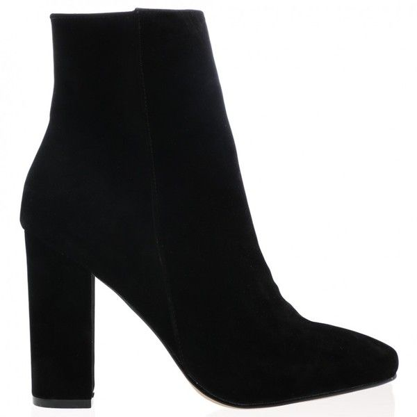 26e582062d4d Presley Ankle Boots in Black Faux Suede ( 46) ❤ liked on Polyvore featuring  shoes
