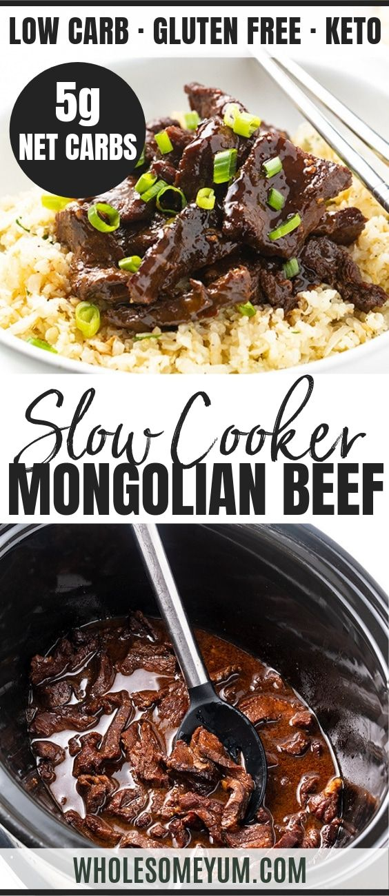 Photo of Keto Slow Cooker Mongolian Beef Recipe | Wholesome Yum