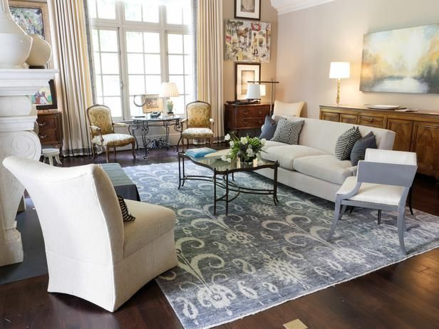 color inspiration neutral and blue living room Transitional Living
