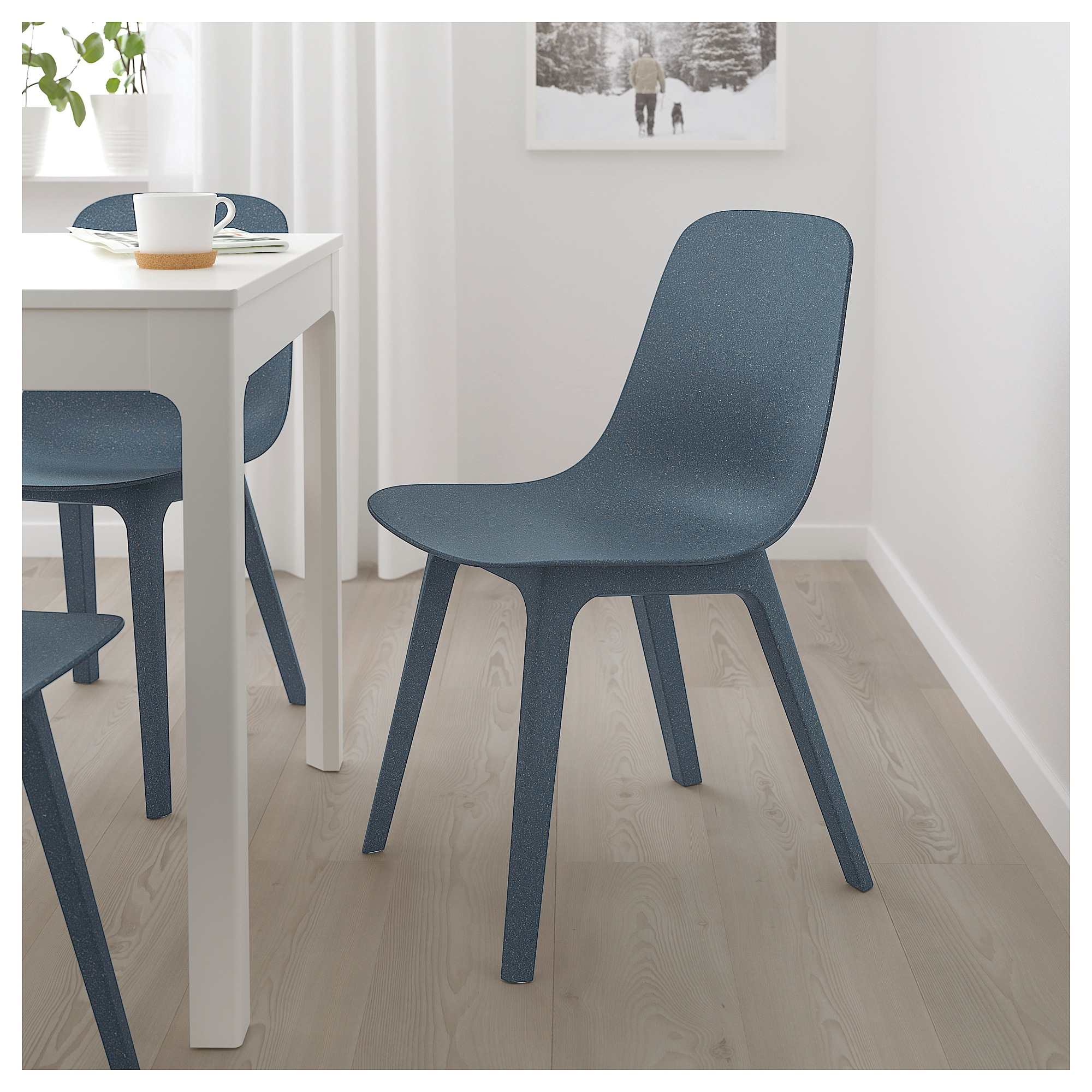 ODGER Chair blue Ikea dining chair, Upholstered desk