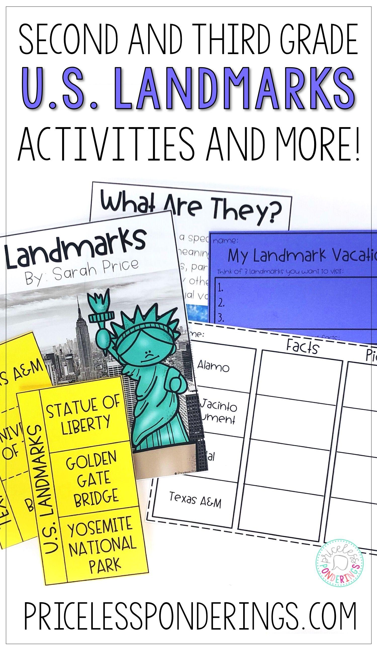 U S Landmarks Interactive Notebook And Activities