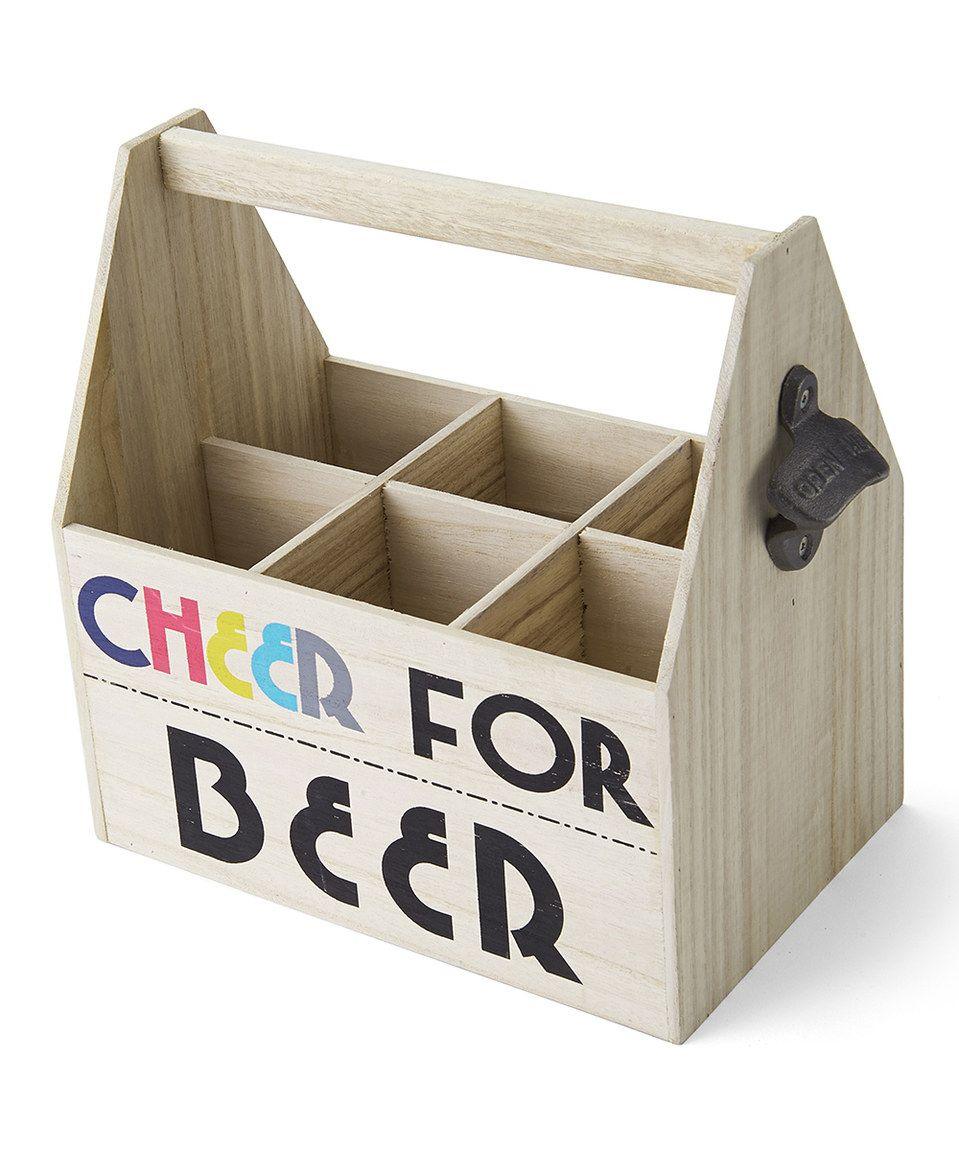 'Cheer for Beer' Wood Beer Caddy by Lifetime Brands #zulily #zulilyfinds