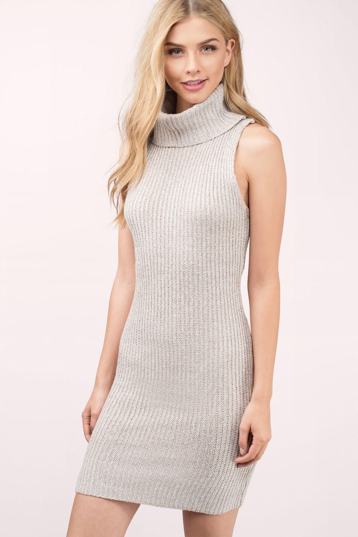 Kerri Turtleneck Sweater Dress In Toast Sweater Dress Turtleneck Dress Sleeveless Turtle Neck Dress [ 1800 x 1200 Pixel ]