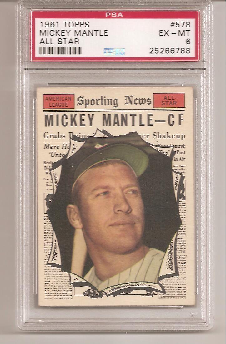 1961 topps baseball card complete high grade set