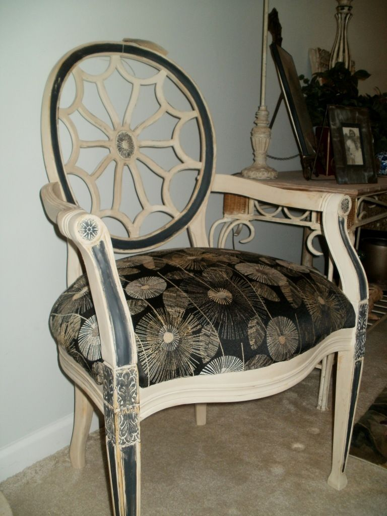 Mahogany Spider Back Chair Painted With Annie Sloan Caulk Paint. | The Blue  Door Of Greenville | Pinterest | Annie Sloan, Annie And Doors