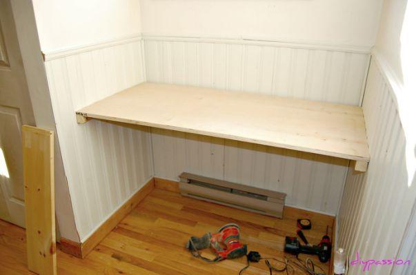 Diy Built In Desk Plans Together Built In Desk Solid Wood Design Kitchen Desks