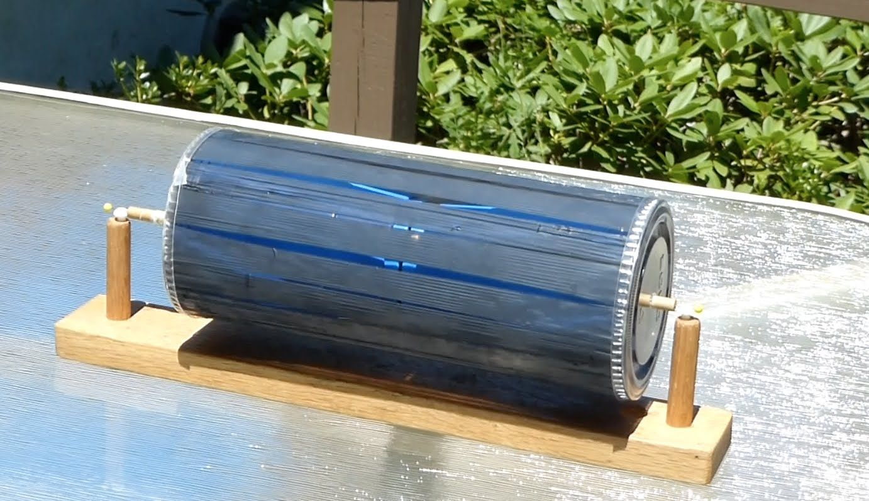Solar motor--Free energy motor-- not electrical /// Homemade Science ...