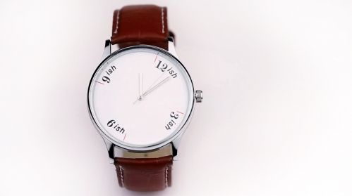 """For the fashionably late: the """"ish Watch"""" by HYPHEN. """"Because in India, time is   not SCIENCE but ART. And we know that   art can NEVER be rushed."""" The Stretchable Time ish-Watch was created to accommodate the typical Indian traffic problems: cow blockades, political escorts, cratered roads. <-brilliant!"""