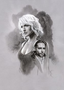 Gaius Baltar and Six by jasonpal