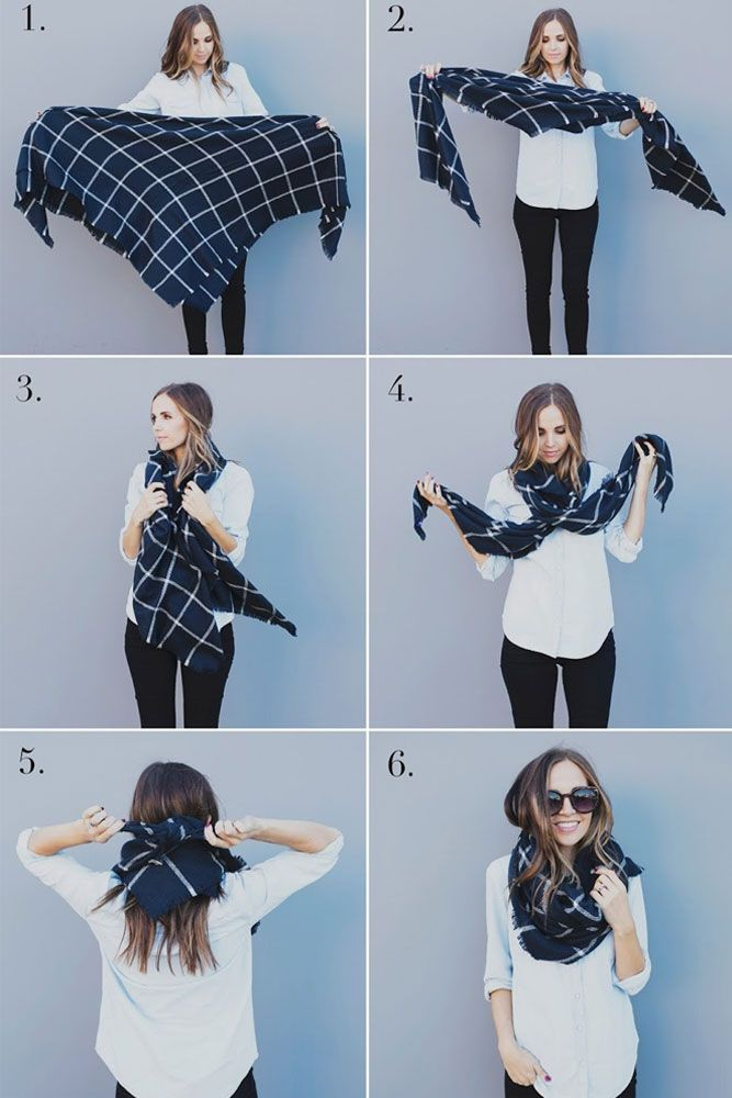 48 Cute Ways How To Wear A Scarf This Season #howtowear