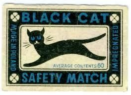 Black Cat Safety Match packaging