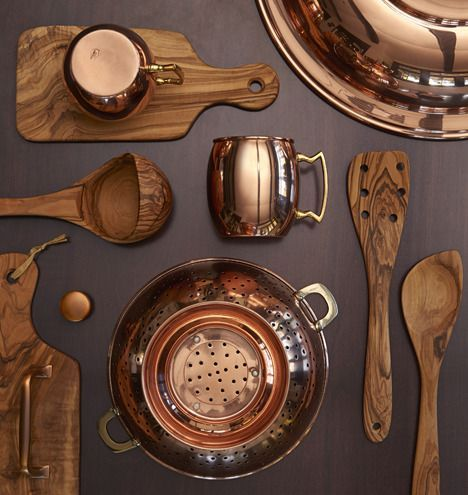 wood copper kitchen accent design | Copper and Olive Wood Accents For The Home | Rejuvenation ...