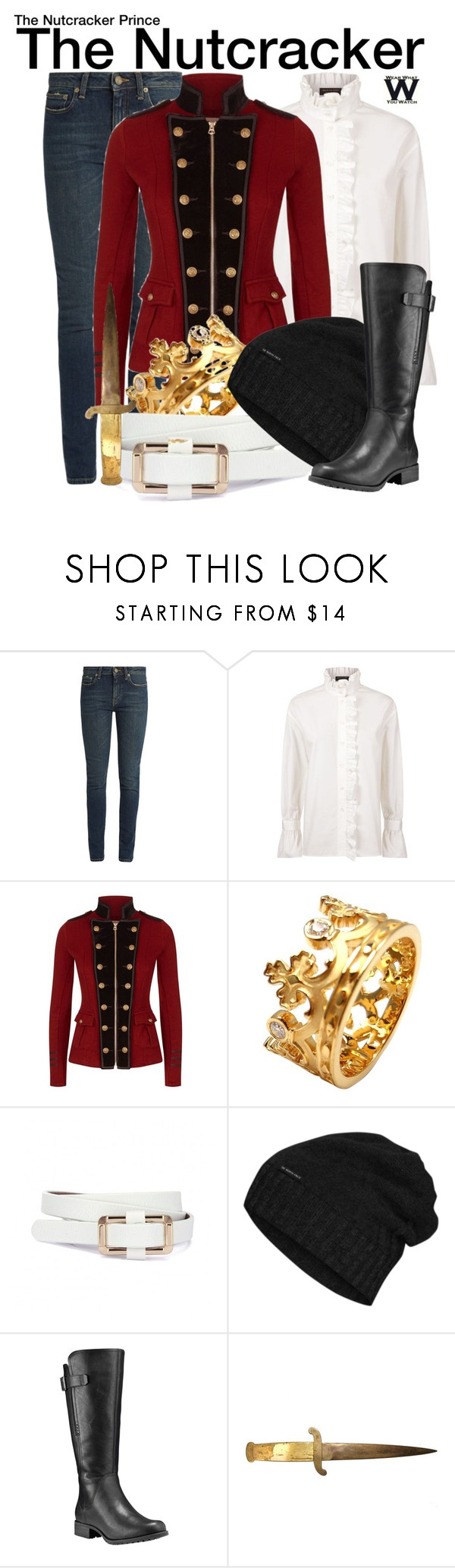 """""""The Nutcracker Prince"""" by wearwhatyouwatch ❤ liked on Polyvore featuring Yves Saint Laurent, Burberry, Denim & Supply by Ralph Lauren, Carrera y Carrera, The North Face, Timberland, wearwhatyouwatch and film"""