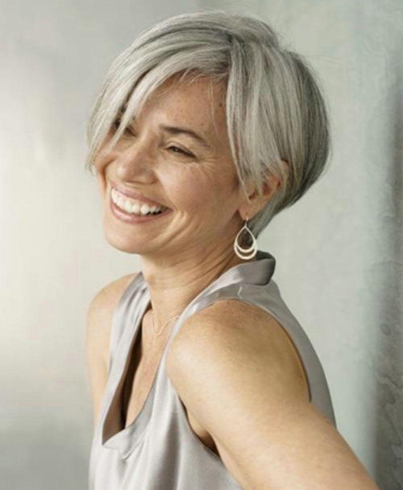 Blue Over Partially Gray Hair Google Search Short Grey Hair