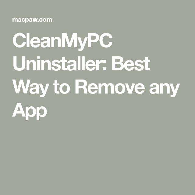 cleanmypc uninstaller