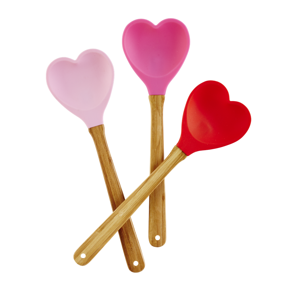 Heart Shaped Silicone Kitchen Spoon By Rice Dk Kitchen Spatula