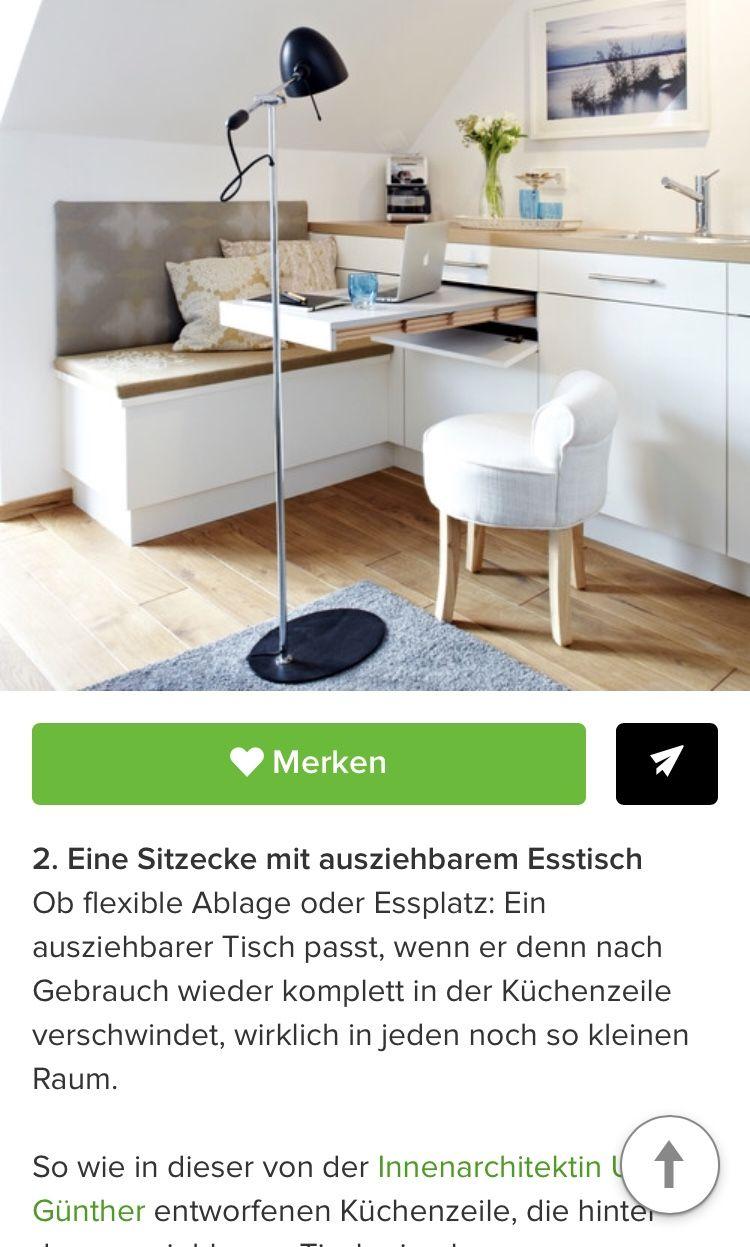 Idee für Essecke Küche #kitchen in 47  Sitzecke, Büroecke