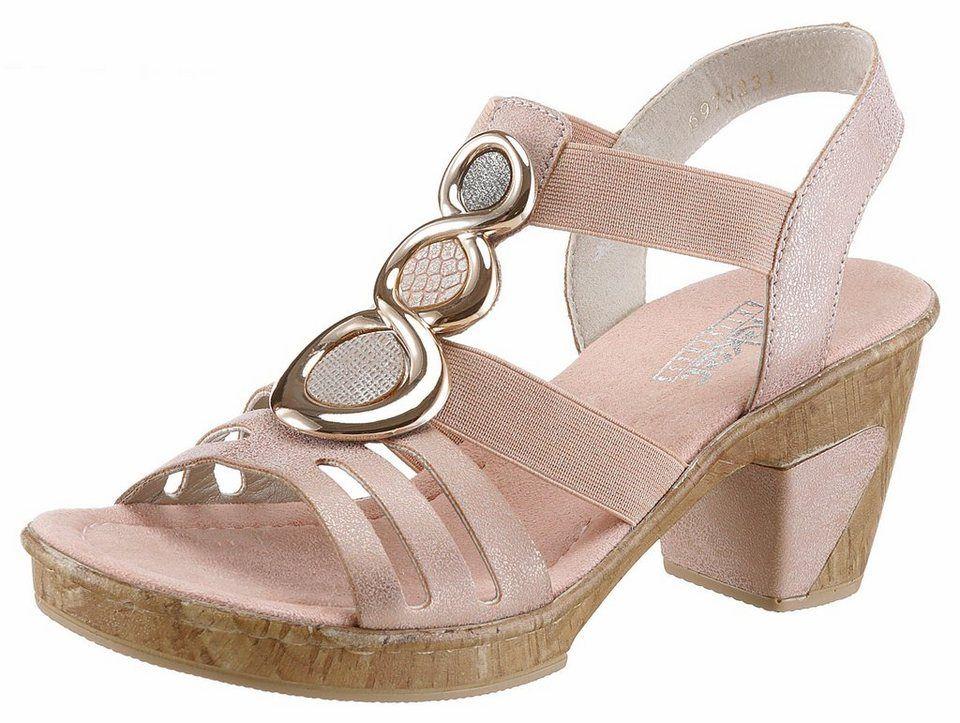 zu verkaufen Modern und elegant in der Mode beliebte Geschäfte Rieker Sandalette mit angesagter Schmuck-Applikation ...