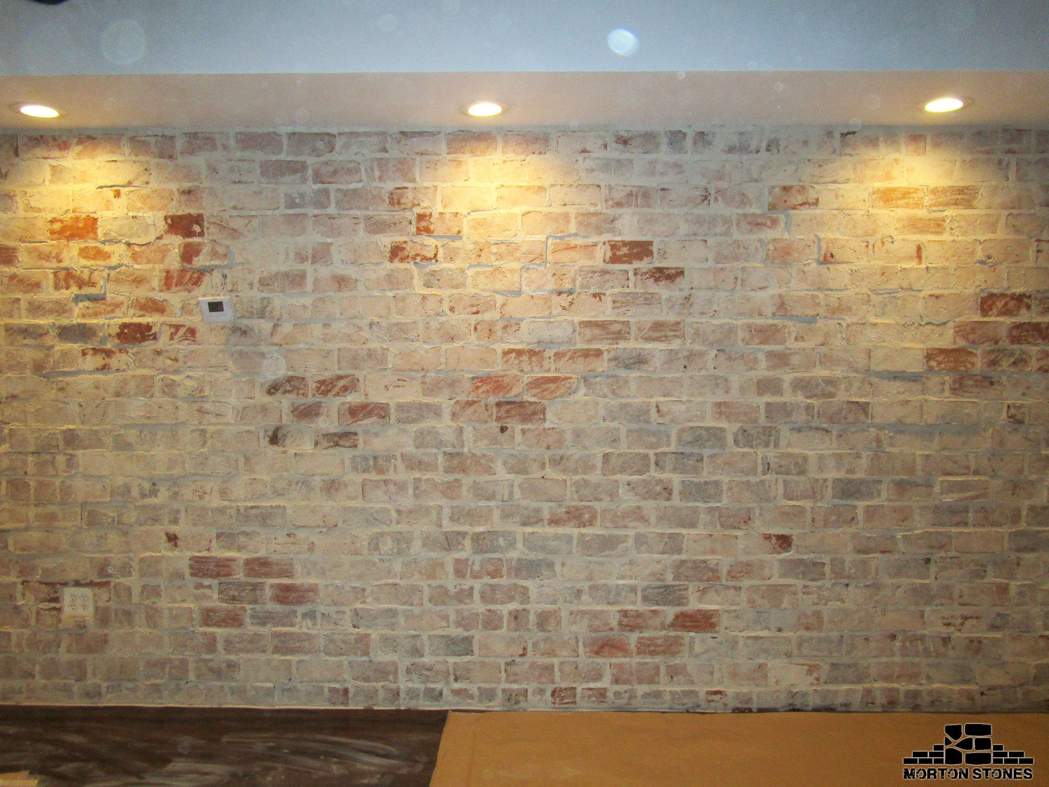 A Trendy Rustic Brick Feature Wall In A Restaurant #Mortonstones