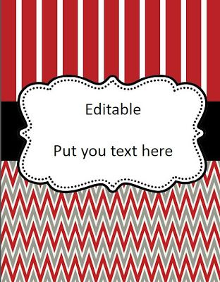 Free Editable Binder Cover | Binder Covers & Spines | Pinterest