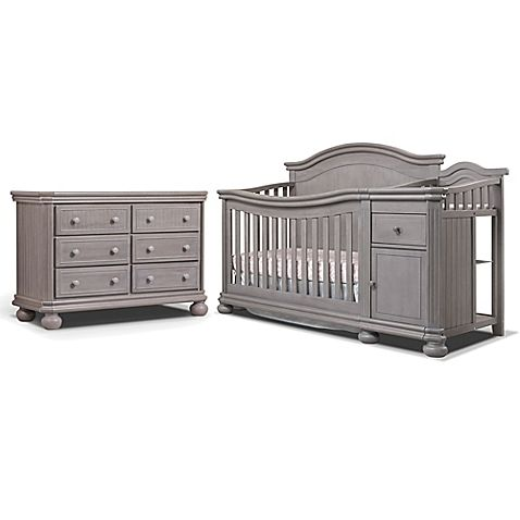 Sorelle Finley Crib Furniture Collection In Weathered Grey Gray Baby Furniture Baby Room Furniture Baby Cribs Convertible