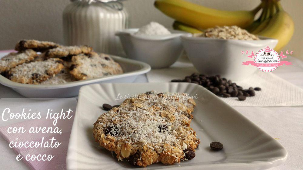 Cookies light con avena, cioccolato e cocco. (56 calorie l'uno) | Le Ricette Super Light Di Giovi