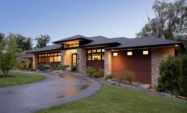 Modern Prairie House Plans Prairie Style Houses Prairie Style