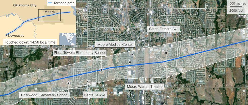 Oklahoma tornado mapped Tornado, Tornado map, Oklahoma