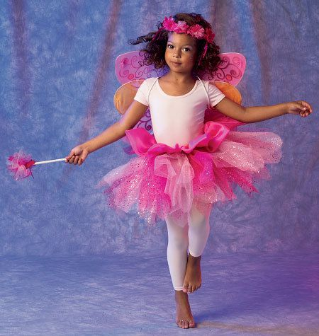 Easy fairy, ballerina, or angel pattern.  McCalls 6906 Fairy Wings and Tutu Skirt Sewing by ucanmakethis