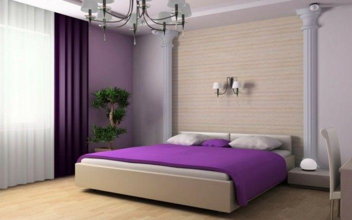 40 Ideen wie Sie lila Zimmer dekorieren (mit Bildern
