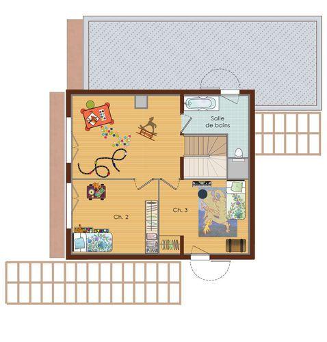 Une maison au service de lu0027homme et de la nature - plan de maison a etage moderne