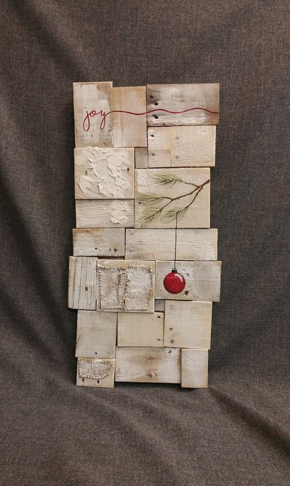 Sale rustic christmas decor pallet art white washed for White painted pallets