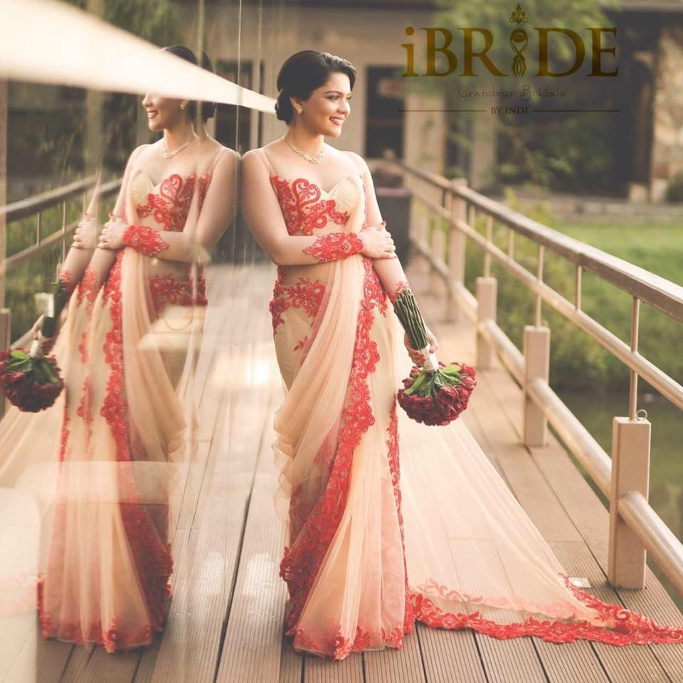 Sri lankan bride kandyan saree saree drape saree dress for Sri lankan wedding dress