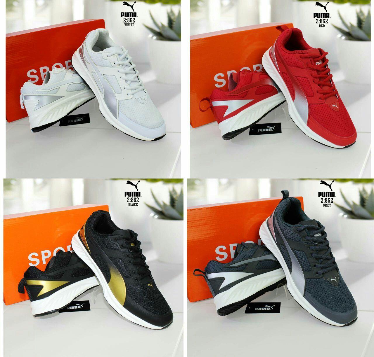 Sepatu Merek Puma Seri 862 Kualitas Semprem Warna White Black