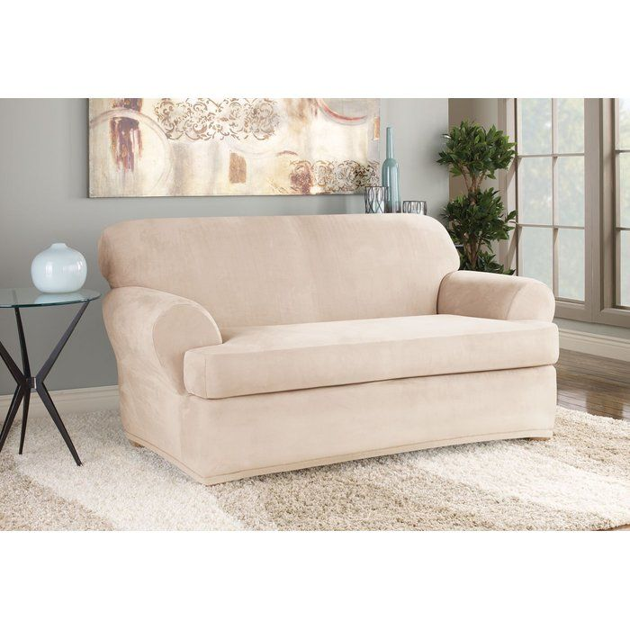 Awesome Soft Suede T Cushion Loveseat Slipcover In 2019 Condo Beatyapartments Chair Design Images Beatyapartmentscom