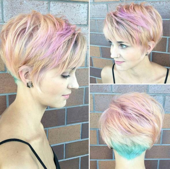 Pastellzauber 10 Peppige Shortcuts In Unterschiedlichen Pastelltonen Neue Frisur Haar Styling Kurzhaar Pixie Haarfarben Frauen