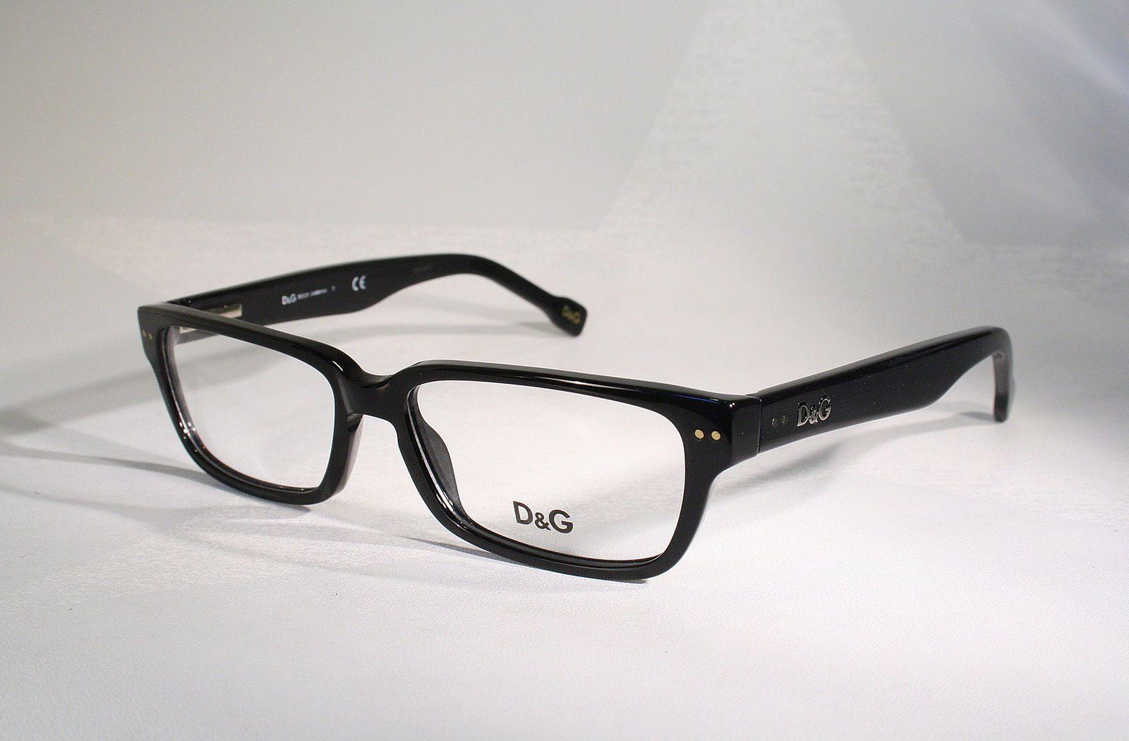 1dc3bc3c78d DOLCE   GABBANA D G 1165 Black Horn Rimmed Style Men s Women s Eyeglass  Frames ...