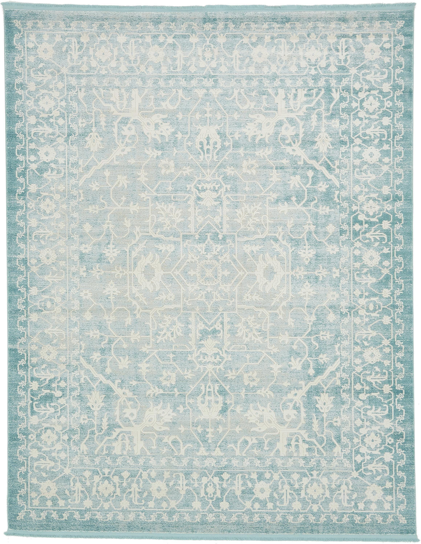 Light Blue 8 X 10 New Vintage Rug Area Rugs Esalerugs
