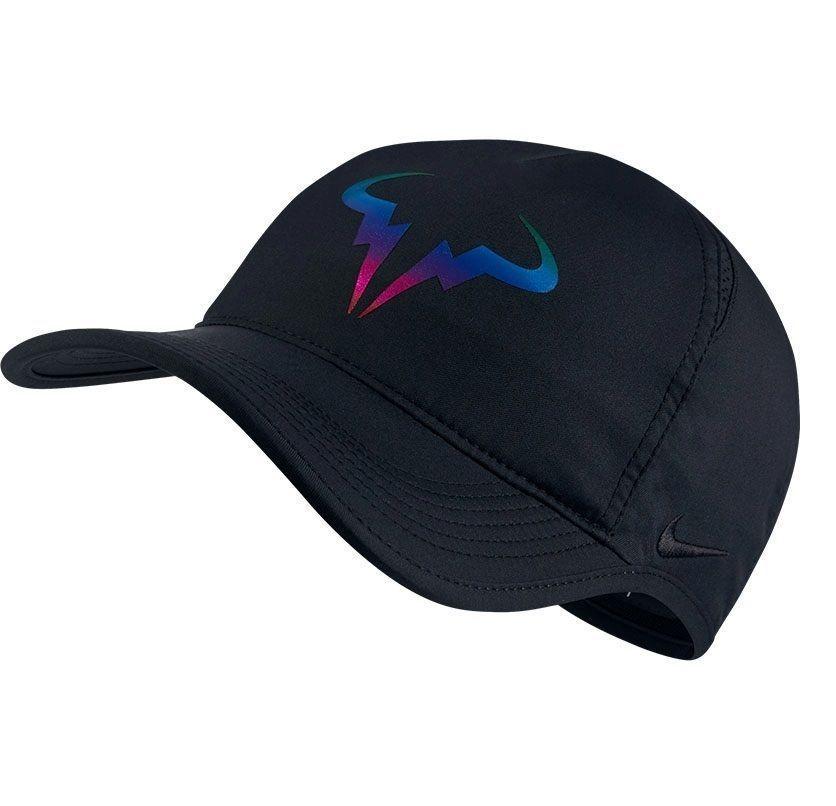 78fd0aecd6e70 Nike Tennis Premier Rafa Nadal Bull Logo Iridescent Hat Black 835535 010 # Nike #Hat
