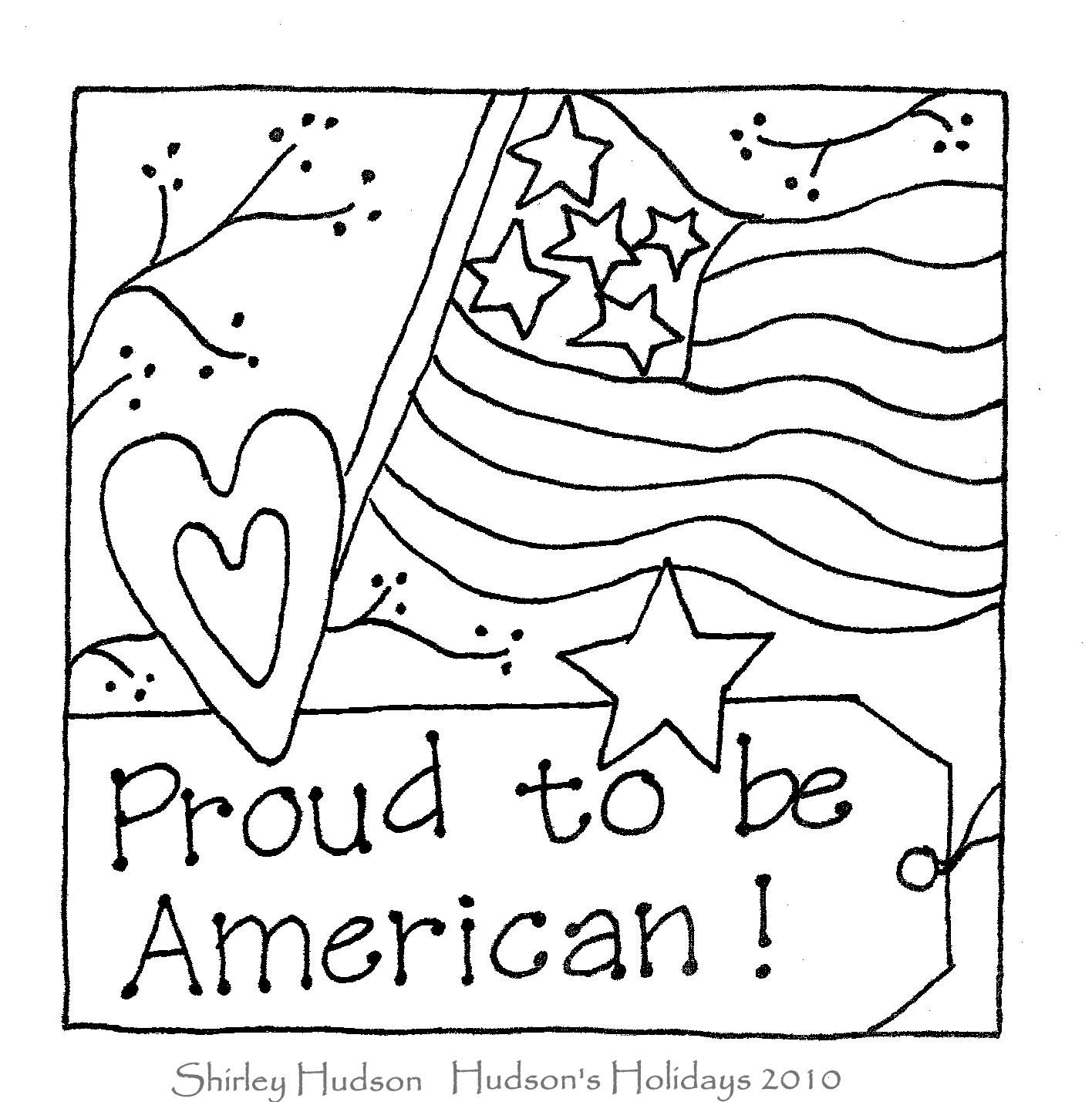 Proud to be American freebie Embroidery patterns, Folk