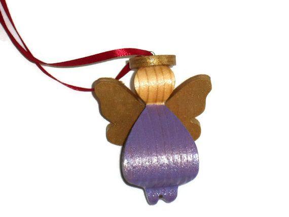 3D Angel  Style 5  Purple by KentsKrafts on Etsy, $10.00