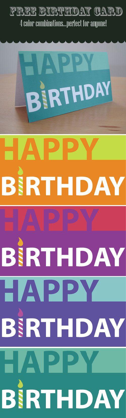 Free Printable Birthday Cards Free Printable Birthday Cards Birthday Cards For Him Birthday Card Printable