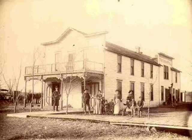Vintage Waynoka Oklahoma 2s Hotel